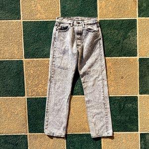 Vintage Levi's Acid Wash High Waist Gray Jeans